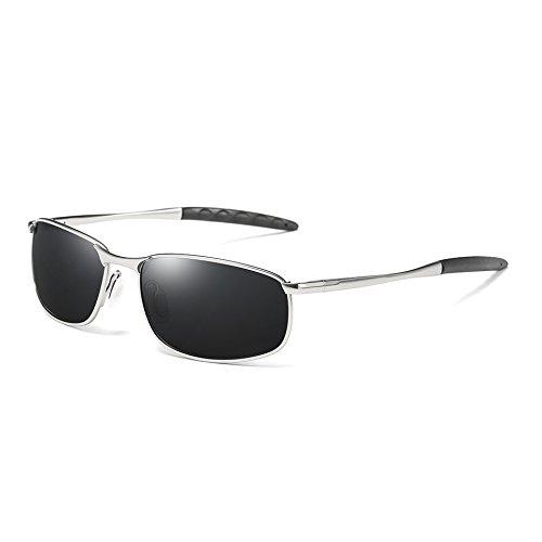 Vintage TL Hombres Gafas Sunglasses Plata Sol polarizadas Sol silver Gafas Tonos gray Retro Gris de de Hombres Clásico UV400 88PwrnvqS
