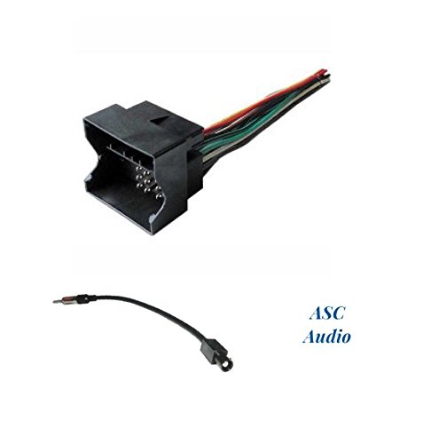 ASC Audio Car Stereo Radio Wire Harness and Antenna Adapter to Install an Aftermarket Radio for some BMW and Mini Cooper - See Compatible Vehicles Below