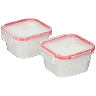 Snapware Airtight Plastic Food Storage Container (4-Piece, 1.3-Cup Containers, BPA Free, Meal Prep, Leak-Proof, Microwave, Freezer and Dishwasher Safe)