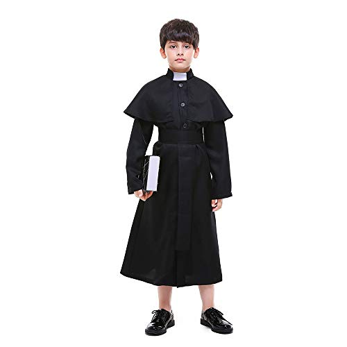 FORyou Boys Priest Costume Robe with Belt