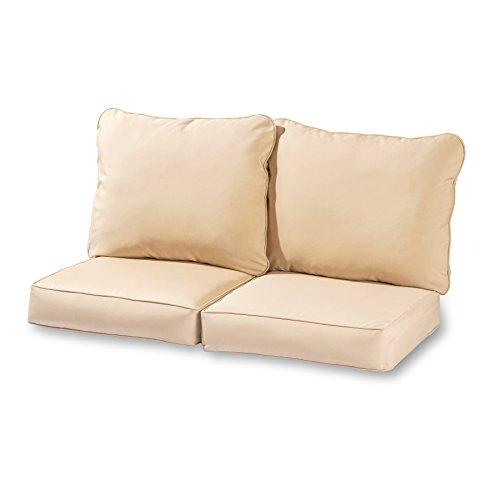 Greendale Home Fashions Deep Seat Loveseat Cushion Set, -
