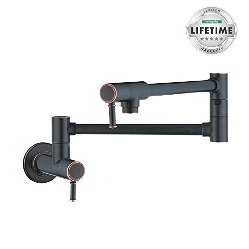 Hansgrohe 04218920 Talis C Wall-Mounted Pot Filler, Rubbed Bronze