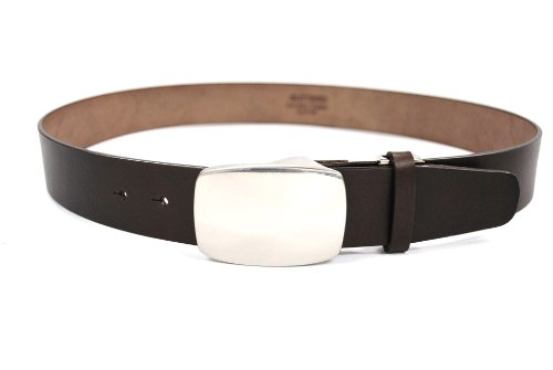 Bell la bell Men's Itarian Buttero Leather Belt Top Buckle M Dark Brown