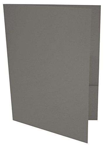 9 x 12 Presentation Folders - Smoke (50 Qty) | Perfect for Tax Season, Brochures, Sales Materials and so much More! | 100lb Text Weight | (Legal Presentation Folder)
