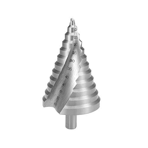 Step Drill 6 mm to 60 mm Step Size 12 2 Spiral Flutes Trilateral Metal Shank Wood Plastic High Speed Steel