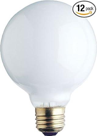 Amazon Com Westinghouse 0312100 25w 120v White Incand G25 Light Bulb 1500 Hour 180 Lumen Pack Of 12 Home Improvement