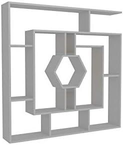 Decorotika 53″ Labrina Geometric Bookcase