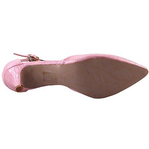 Unze Zapatos Chic puntiagudo Corte Mujeres Pattel ' Morado
