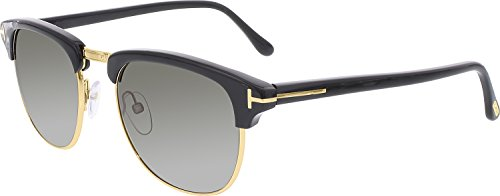 Tom Ford Sunglasses - Henry / Frame: Shiny Black with Green Gradient - Ford Henry Tom