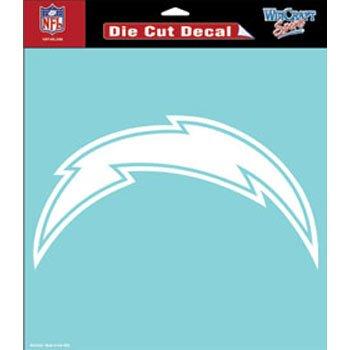 San Diego Chargers 8x8 White Team Logo - Diego Outlets En San