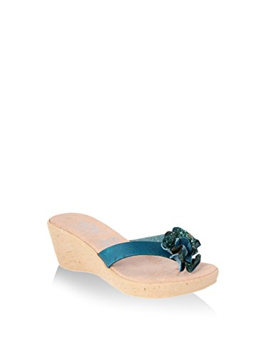 hh-Made in Italy Sandalias de cuña Azul EU 41