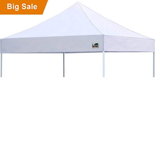 Eurmax New Pop up 10x10 Replacement Instant Ez Canopy Top Cover Choose 15 Colors (White) - Canopy Top