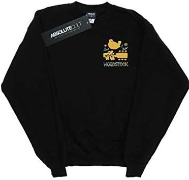 Absolute Cult Woodstock Damen Breast Logo Sweatshirt Schwarz Large