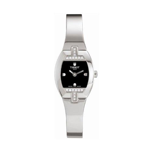 Tissot T-Tonneau T 62129551 - Reloj de mujer de cuarzo, correa de acero