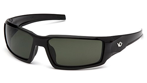 (Venture Gear Pagosa Glasses with Anti-Fog Lens, Forest Gray Lens, Black Frame)