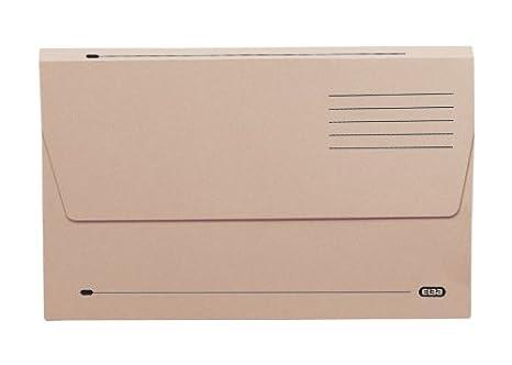 310 g//m/² 50 red capacit/à 30 mm Confezione di 50 cartelle porta-documenti a portafoglio con scomparti Elba formato protocollo
