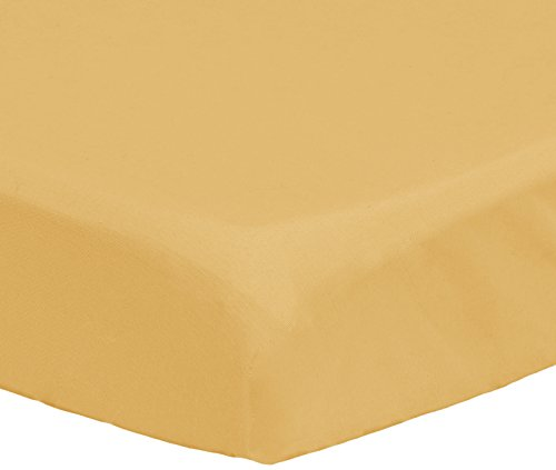 Pinzon 300 Thread Count Percale Fitted Mini Crib Sheet, Straw