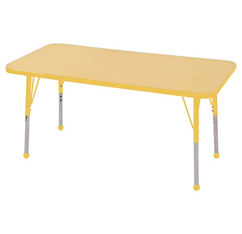 ECR4Kids Mesa Thermo-fused 24' x 48' Rectangular School Activity Table,...