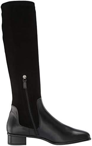 Lina Calf/Stretch Suede Knee High Boot
