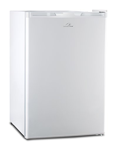 Commercial Cool CCR45W Compact Single Door Refrigerator and Freezer, 4.5 Cu. Ft. Mini Fridge, White