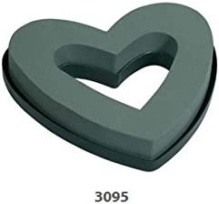 Oaisis Mache Solid Heart Shaped Wreath Form for Fresh Flowers 12 Inch Package of 2