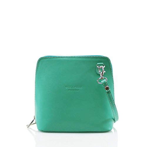 SMALL BODY GENUINE ITALY Turquoise 011 BAGS SHOULDER LEATHER CROSS LeahWard® qIYZg5w
