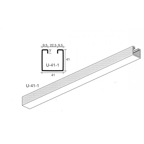 Oglaend Uno Plain Channel Stainless Steel 41X41 mm 1 meter length (As Unistrut P1000) Pack Size : 1
