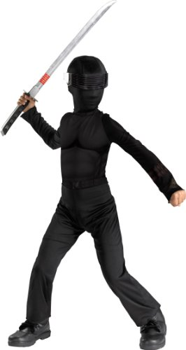 Gi Joe Black Ninja Costume (Snake Eyes Classic Child Costume - Small)