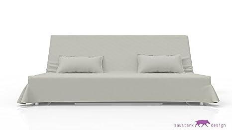 SYLT gris pálido largo funda para sofá cama + 2 IKEA ...