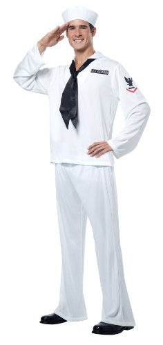Sailor Halloween Costumes Men (California Costumes Sailor, White, X-Large Costume)
