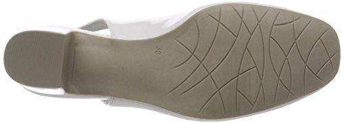 Caviglia White Cinturino Donna Marco con Bianco alla Scarpe Patent 29600 Tozzi OYWqCwSB
