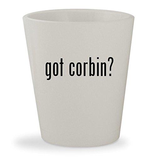 got corbin? - White Ceramic 1.5oz Shot (Corbin Gunfighter Seats)