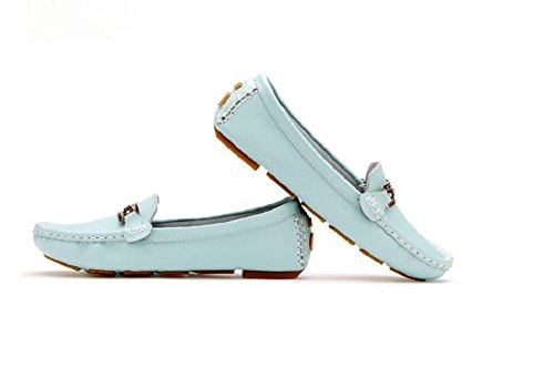 Mocassini Pelle Lazutom Confortevole Shoe Casual Blue Slip Vintage on In Guida q1wxpdYwT