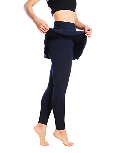 Women's Running Skirt with Leggings Athletic SportsWear Workout Pants 2 In 1 Skirts