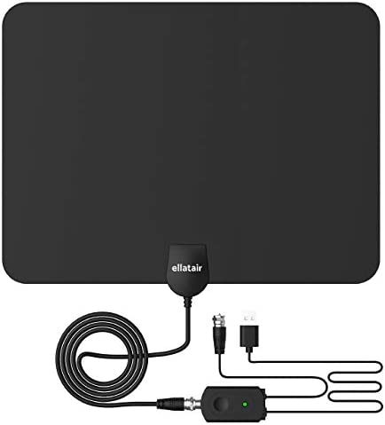 Amplified HD Digital TV Antenna 80-120 Miles Long-Range Reception Support 4K 1080p Indoor TV Digital HD Antenna Freeview Life Local Channels All Type Television Switch Amplifier Signal Booster