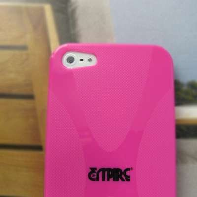 EMPIRE Cute Hot Pink Rosa Type X Case Étui Coque for Apple iPhone 5 Cover Couverture