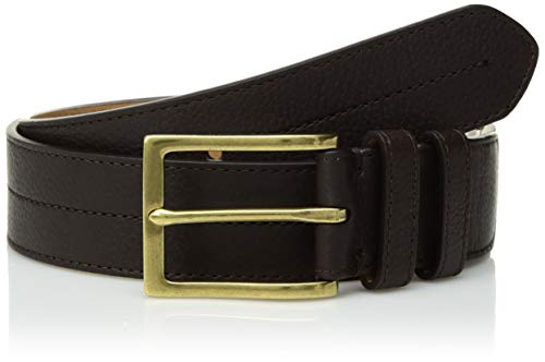 - Cole Haan Men's 35mm Pebble Leather Belt, chocolate/polished brass 38