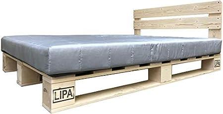 Lipa Palettenbett Mit Kopfteil Massivholzbett Paletten Bett Holz 90