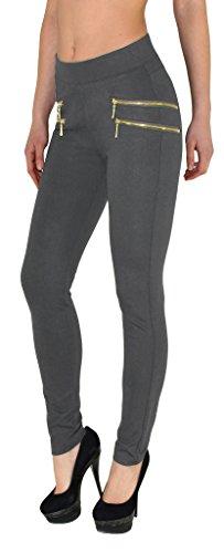 J189 la Skinny tex 50 Taille surdimensionne Treggings gris haute femme Pantalons taille Femmes de Jeggings J189 by Femmes 1P8qxaa