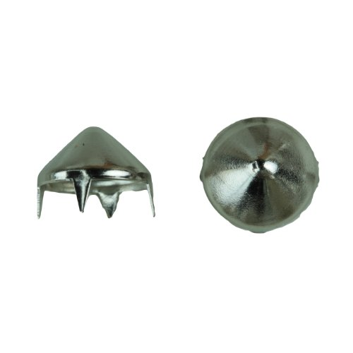 1006 Cone Spike Nailhead, Size 40, Solid Brass, Nickel Finish, 150 pieces per ()