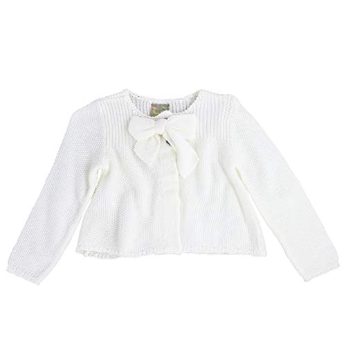 MARIA ELENA - Infant and Toddlers Knitted Cassadee-Love Garter Stitch Cardigan (Soft Ivory, 3T)