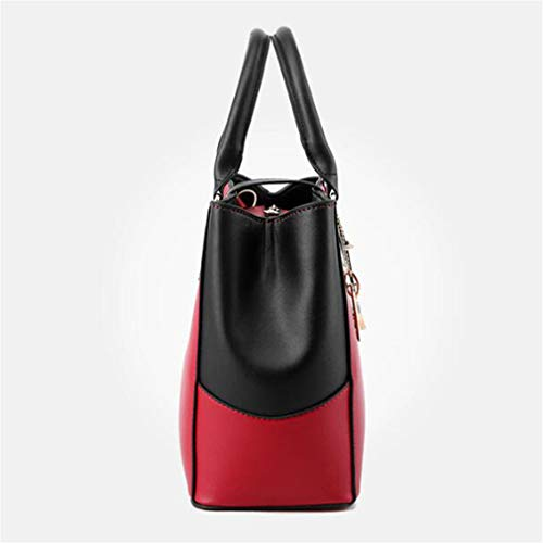 Mujer Mano Rose Mensajero Cruzada de Topbody 32x13x23cm de Bolsa Bolso Beige Red pYTtx