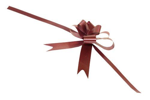 Premier Packaging AMZ-3900094 50 Count Butterfly Pull Bow, 2-Inch, - Pull Bows Burgundy