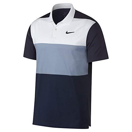 NIKE Dri Fit Vapor CB Golf Polo 2019 White/Indigo Fog/Obsidian Large