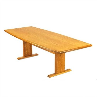 Contemporary Boat Shaped Conference Table Finish: Natural, Profile: Bullnose, Size: 8' L ()