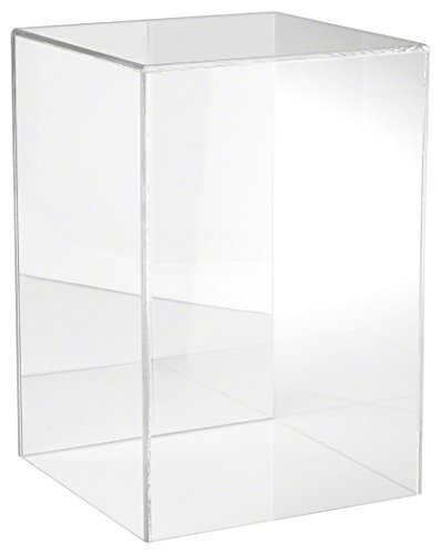 Plymor Clear Acrylic Display Case with No Base Mirror Back , 10 W x 10 D x 15 H