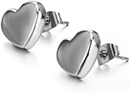 Fashion Jewelry Women's Earrings Lovely Heart-shaped Titanium Steel Earrings Stud Earrings