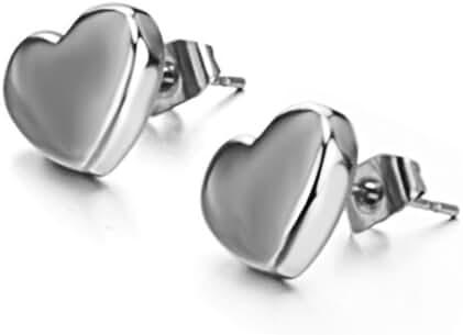 Fashion Jewelry Women's Earrings Lovely Heart-shaped Titanium Steel Earrings Stud Earrings