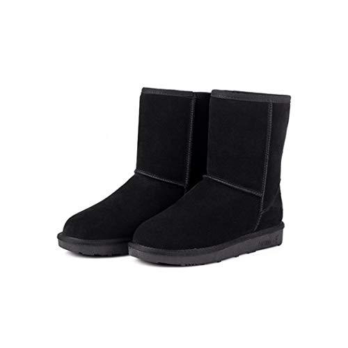 Tomasa Nieve Color Sólido Tacón Mujeres Para Las Negro Impermeable Mantienen De Rain Cálidas Invierno Cortas Botas EEqcxWrwFa