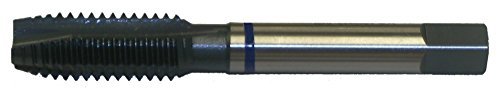 Cleveland C50060 HSS-E 3/4-10 UNC Plug Chamfer HP Spiral Point Tap for Stainless Steel , Straight Flute , Straight w/ Square Shank , Steam Oxide Finish (Pack qty. 1) ()